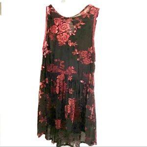Knox Rose Boho Sheer Velvet Lace XL
